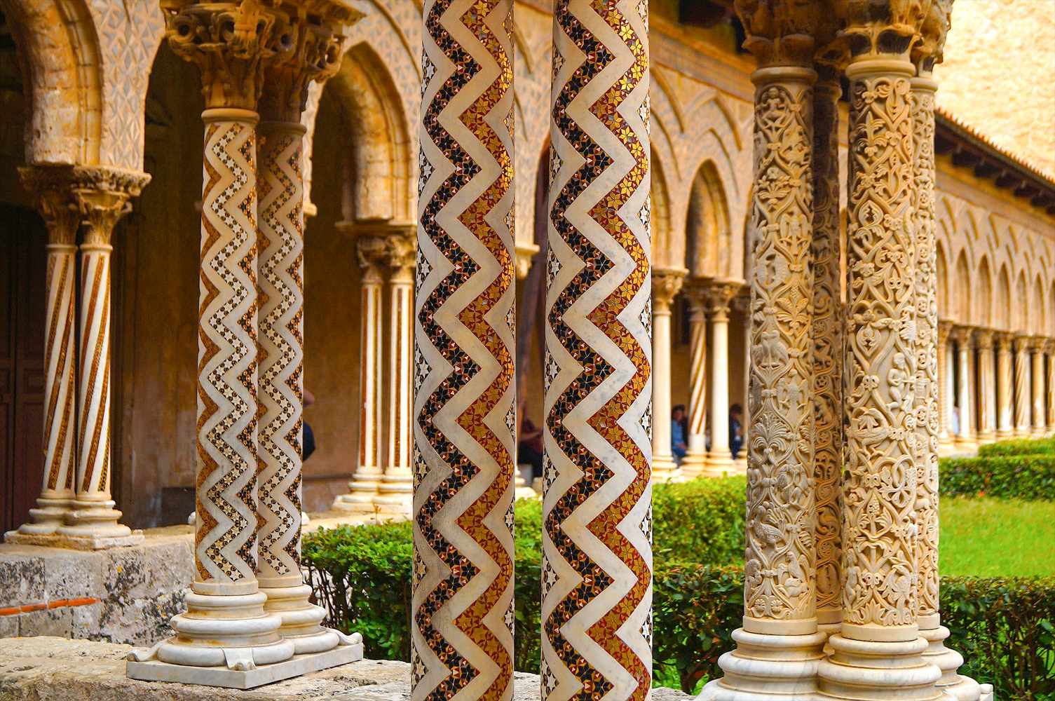 the benedictine cloister of monreale palermo