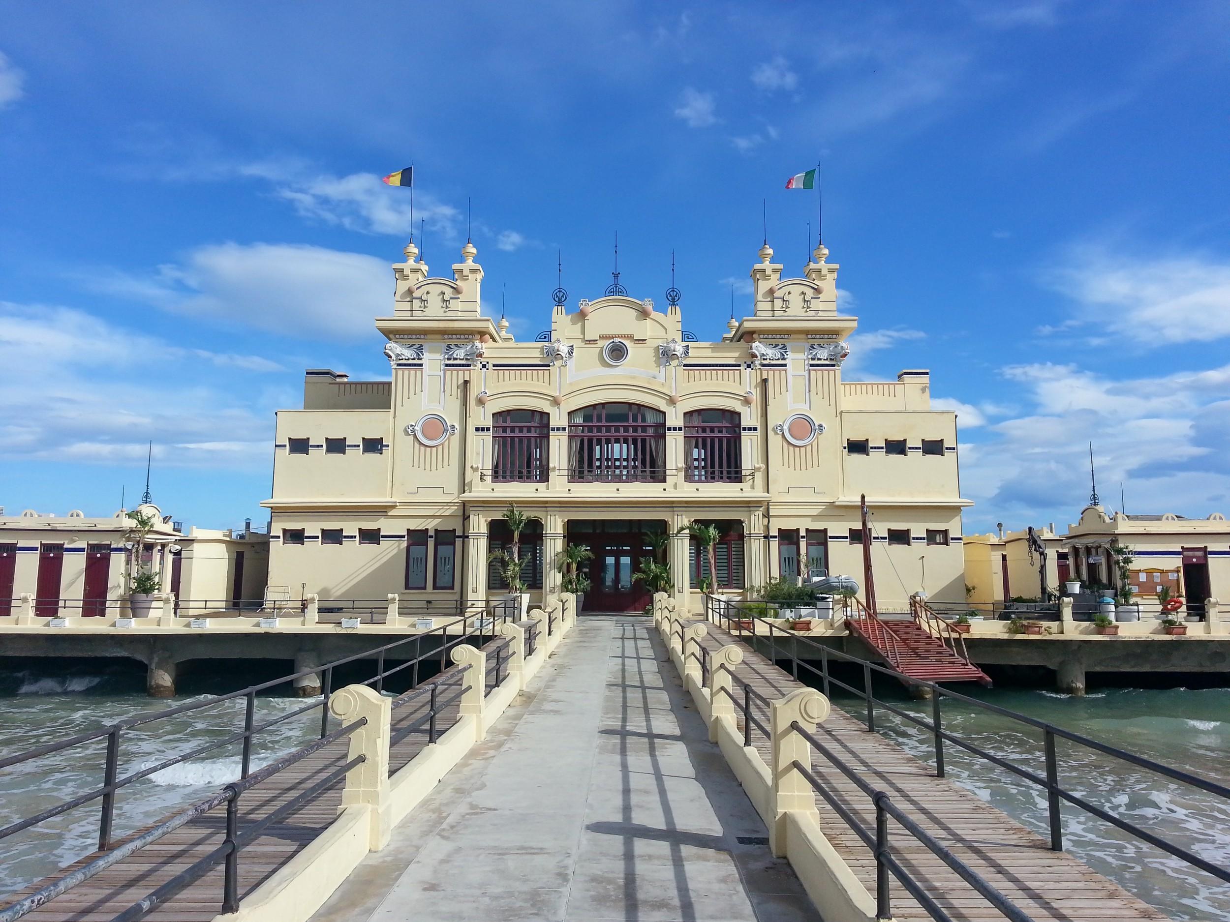 Mondello Das K 252 Stendorf Und Der Strand Von Palermo